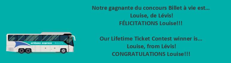 Louise gagnante
