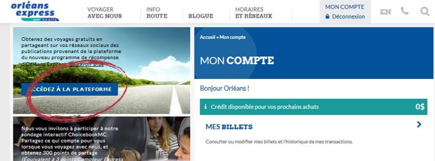 Nouvelle plateforme sociale d'Orléans Express