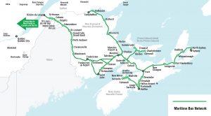 carte du réseau maritime bus